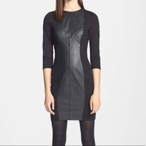 Ted Baker Norrah leather panel dress